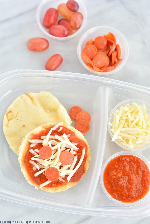 DIY Mini Pizza Lunch Box Idea