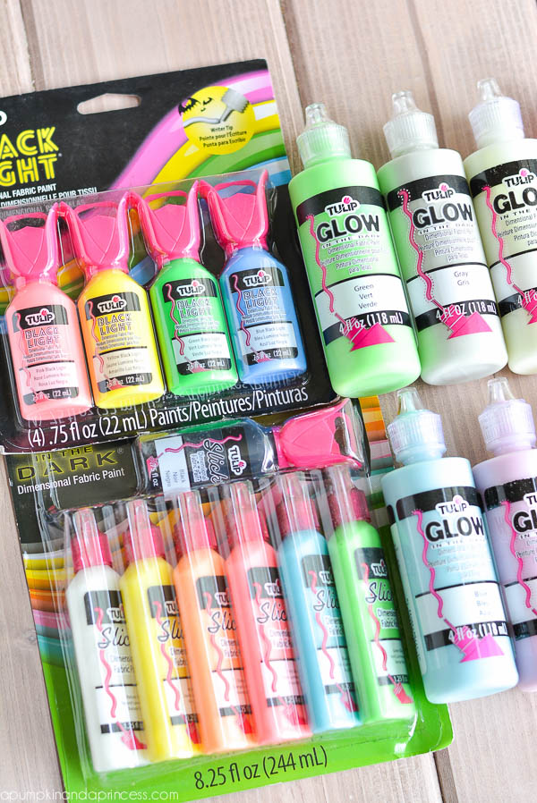 Glow in the dark paint - craft ideas