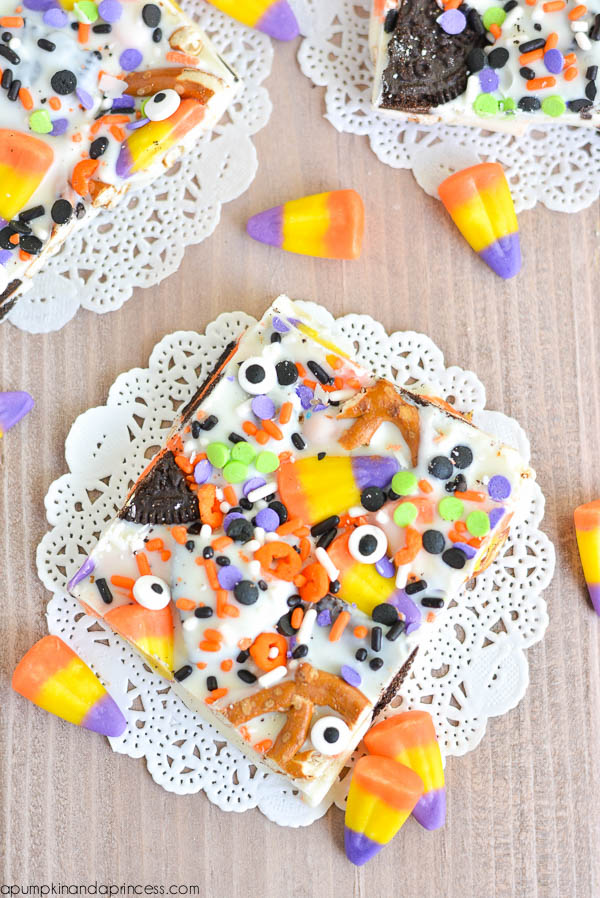 Halloween OREO Candy Corn Bark