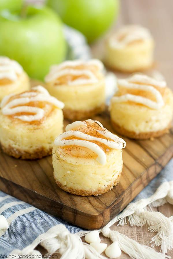 White Chocolate Apple Cheesecake
