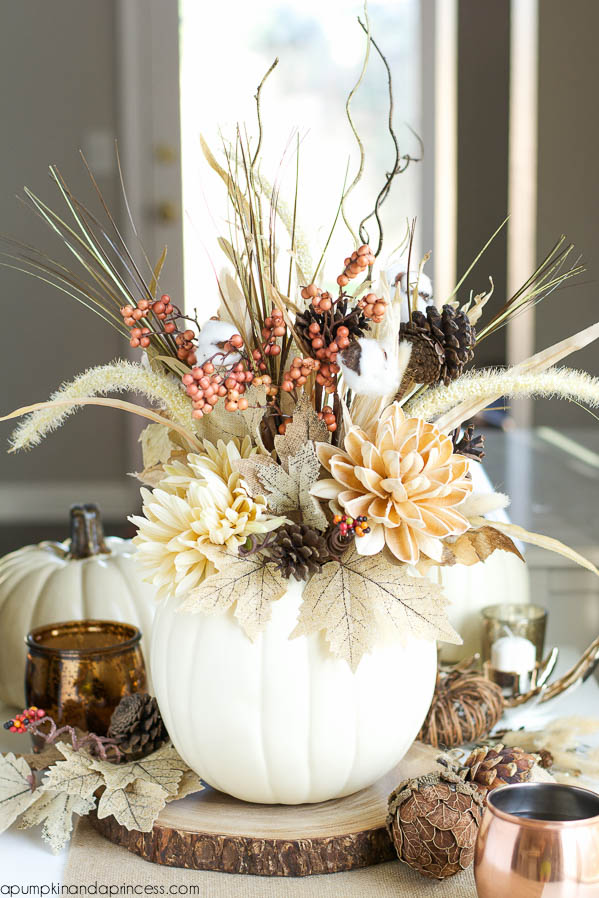 DIY White Pumpkin Vase | Timeless Rustic Decor For Fall