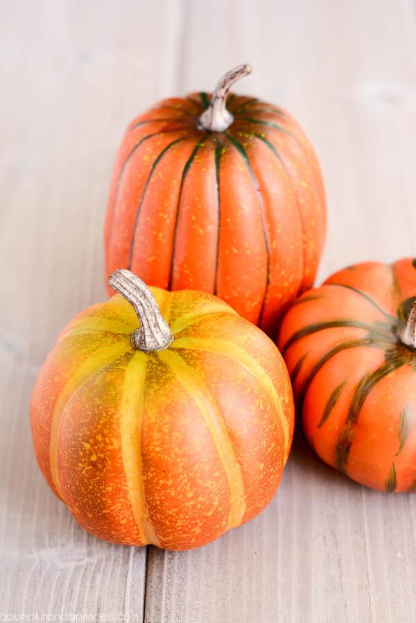 faux pumpkins