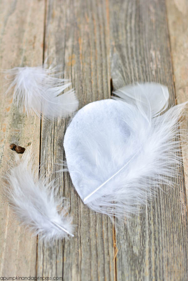 DIY Feather hair piece
