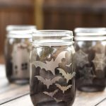 Etched Glass Mason Jar Luminaries