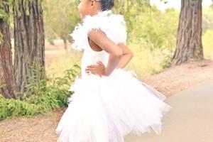 Kids White Swan Costume