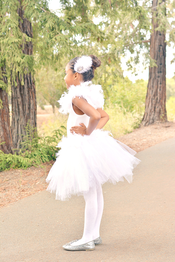 Kids White Swan Costume