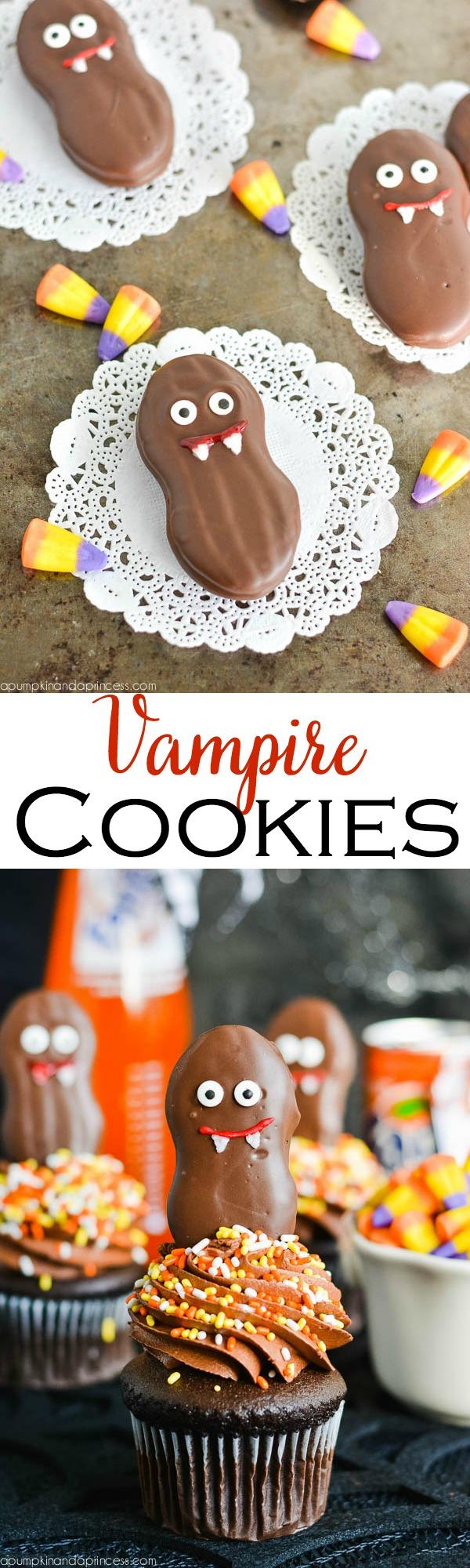 Nutter Butter Vampire Cookies