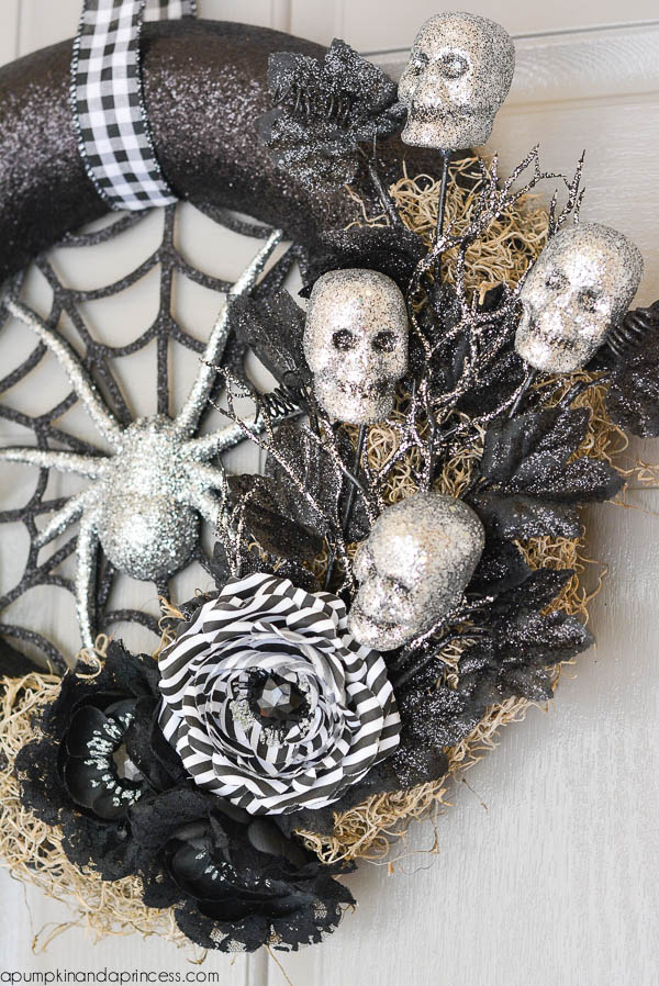 Spider web Halloween wreath