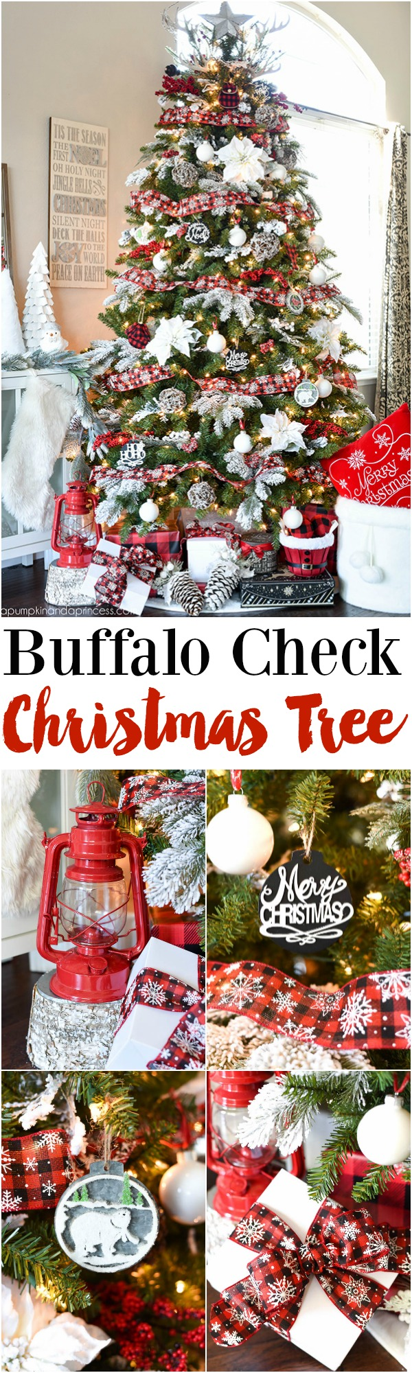 buffalo check christmas tree michaels dream tree - Red And Black Plaid Christmas Decor