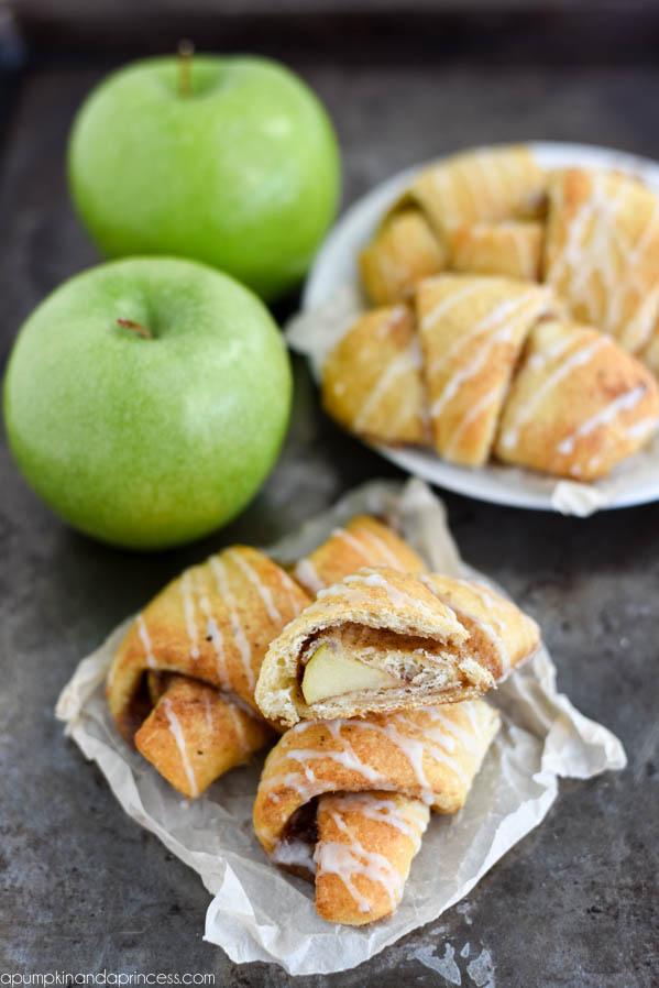 Caramel Apple Pie Crescents