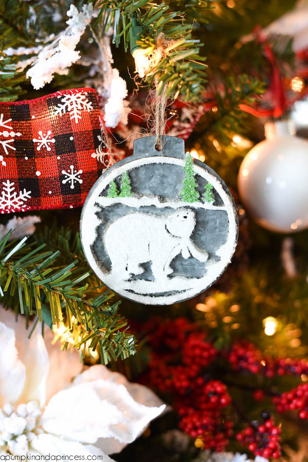 DIY Polar Bear Ornament