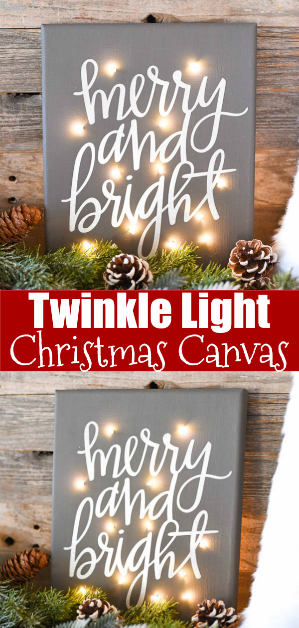 DIY Twinkle Light Canvas - how to make a light up canvas