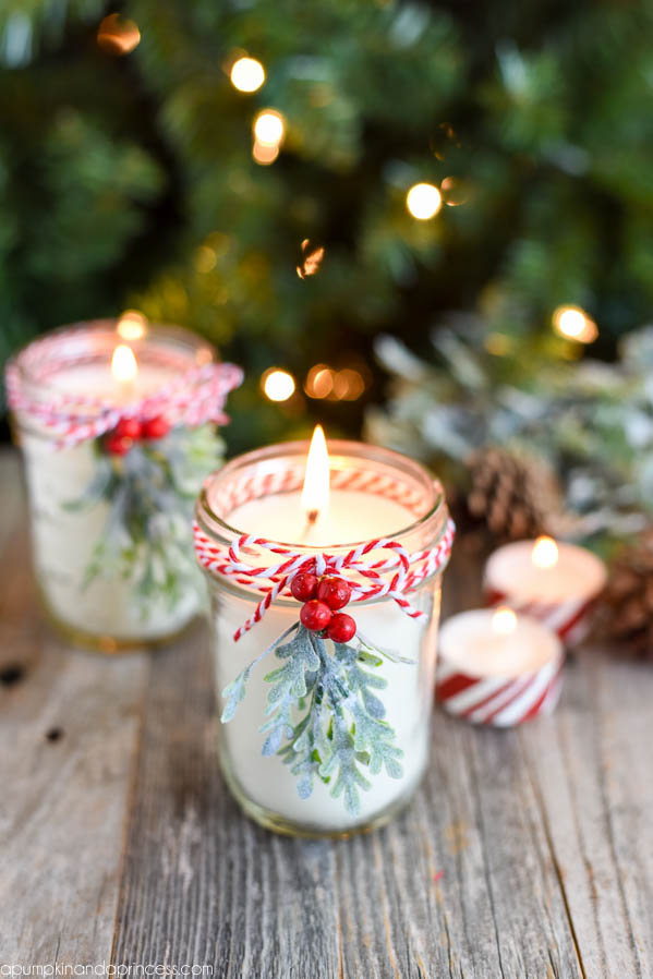Candles christmas diy gift ideas