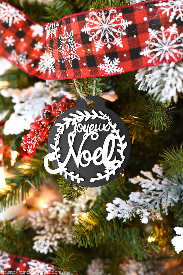 Joyeux Noel Chalkboard Ornament