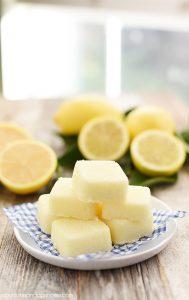 DIY Lemon Sugar Scrub Cubes - revitalize skin and replenish moisture with this easy DIY sugar scrub cube recipe. They also make great handmade gift ideas!