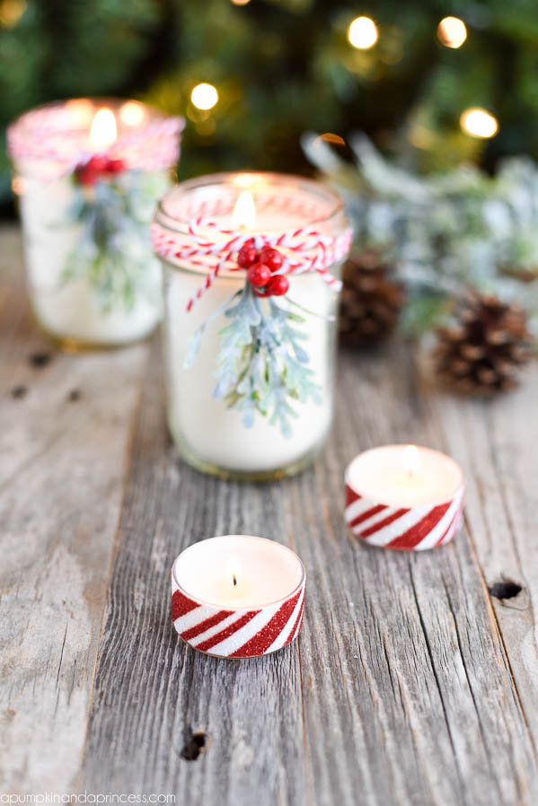 Diy peppermint mason jar candles a pumpkin and princess