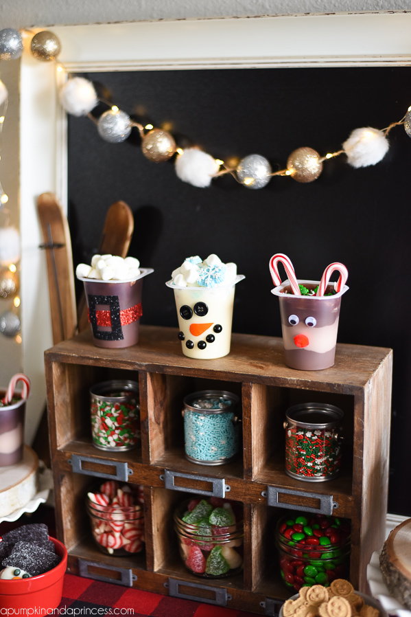 Christmas Candy Bar Display