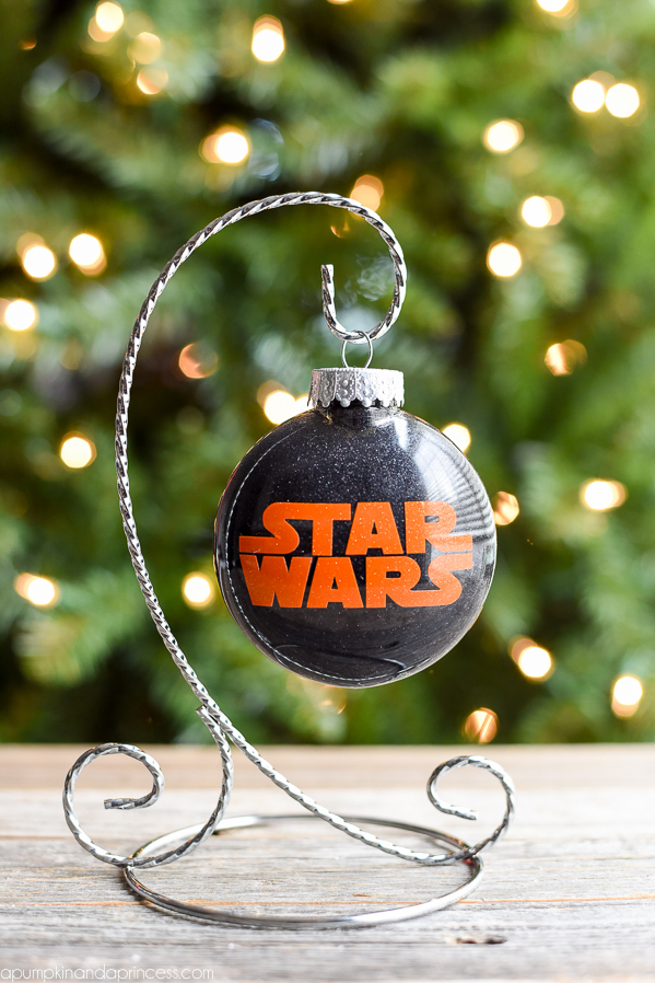 diy star wars vinyl ornament