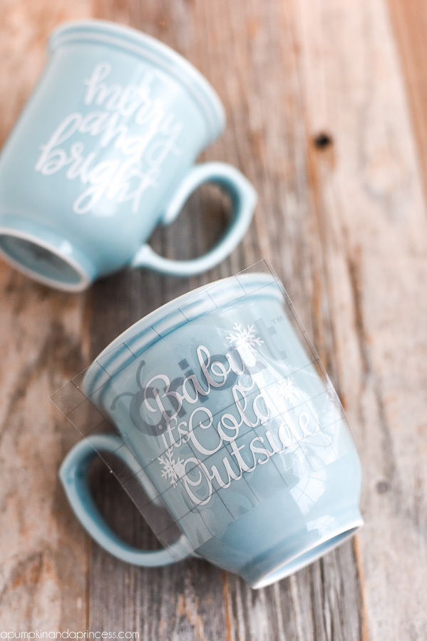 DIY vinyl mugs