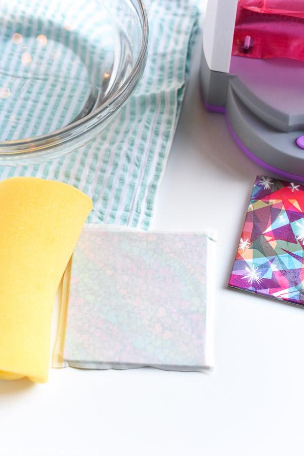 how to make geometric coasters