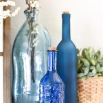 Shades of Blue – Spring Mantel Décor