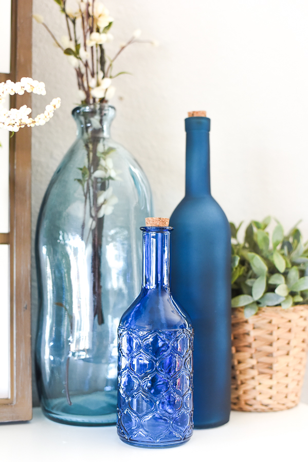 Blue Vases Home Decorating