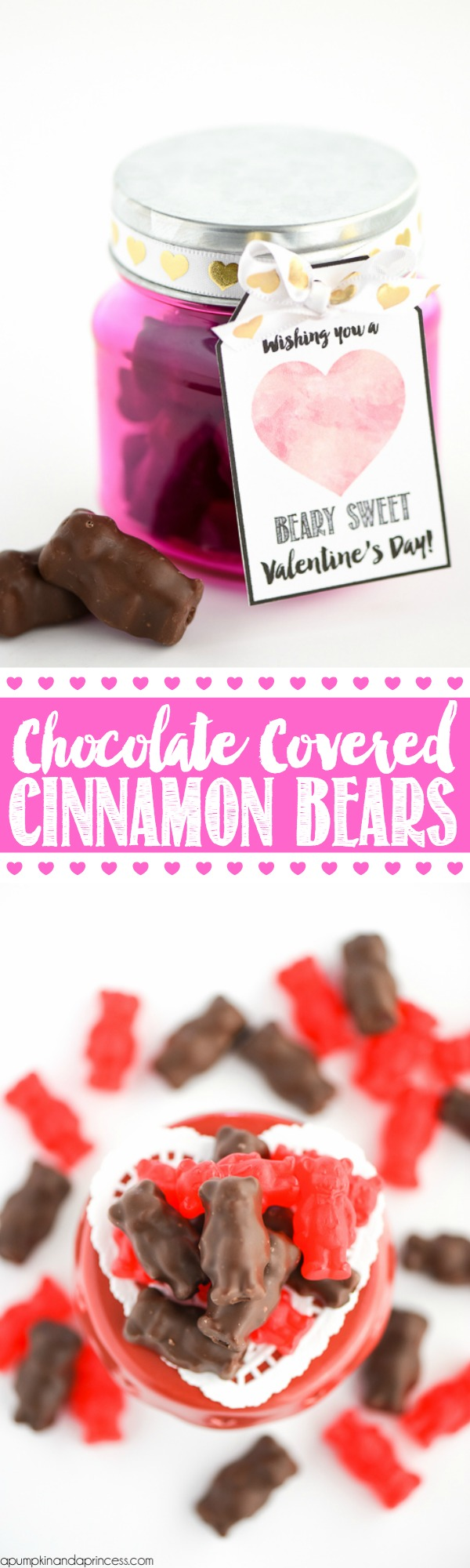 Chocolate Covered Cinnamon Bears Valentine