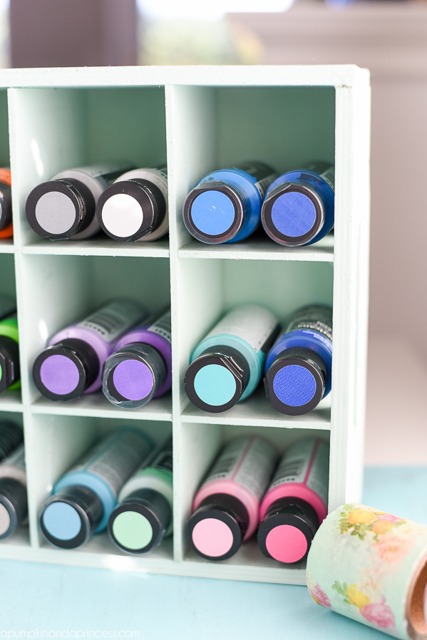 Craft Paint Cubby - how to organize paint
