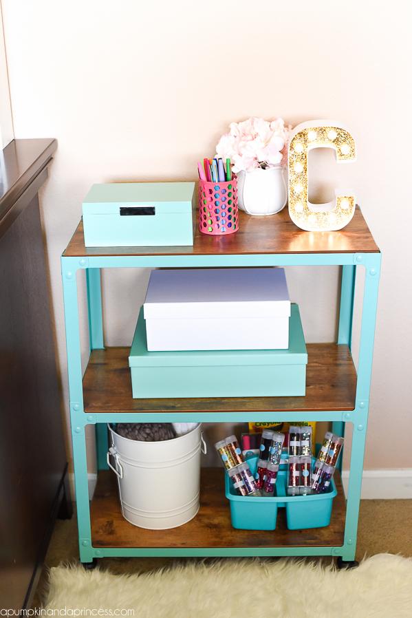 Craft Room Organization - Storage Cart