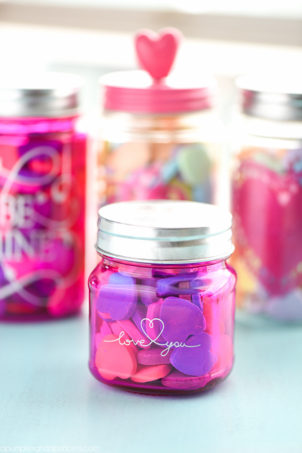 DIY Pink Mason Jar Gifts