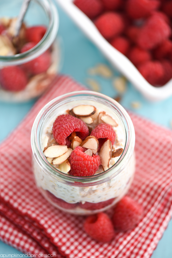 Raspberry Overnight Oats