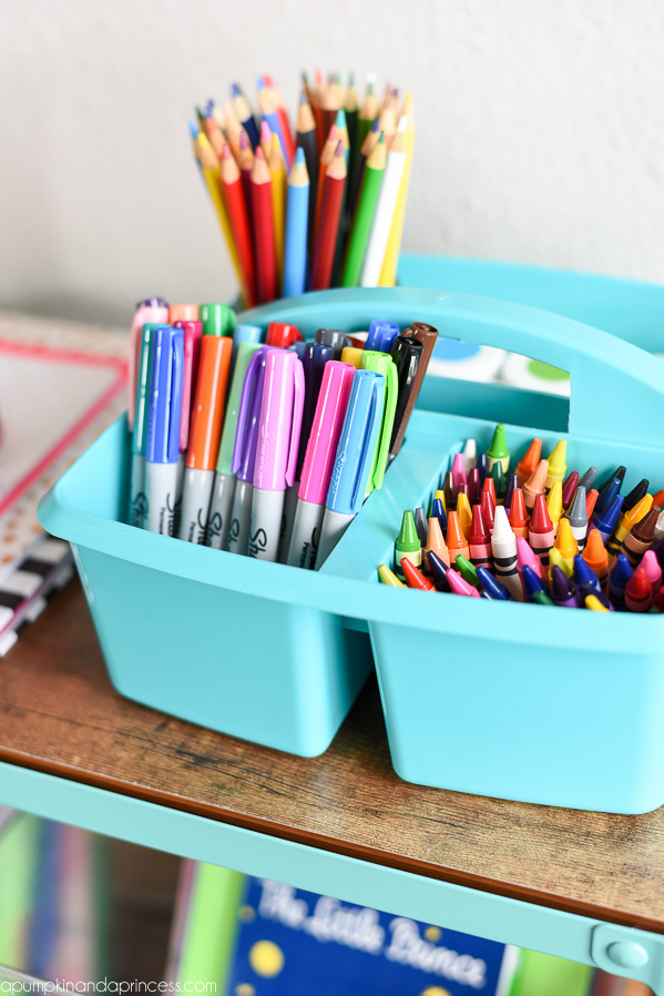 School Supply Organization Ideas