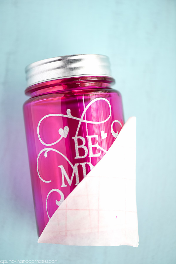Vinyl Mason Jar Craft