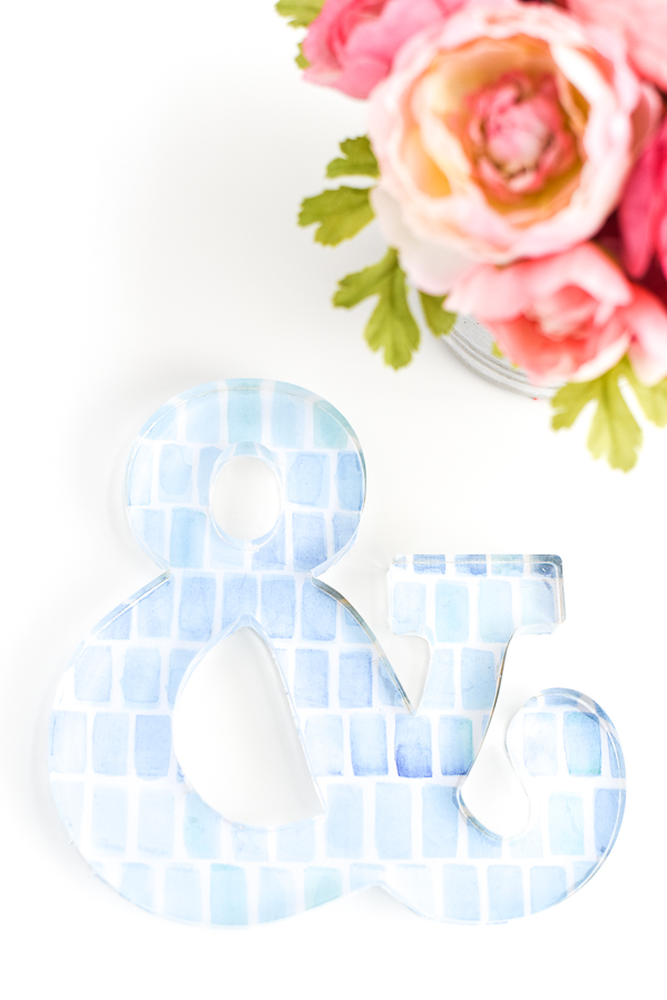 DIY Watercolor Ampersand
