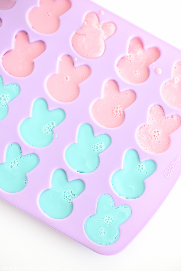DIY Bunny Soap - These handmade bunny shaped soaps made with orange essential oil make a great candy alternative for Easter baskets.