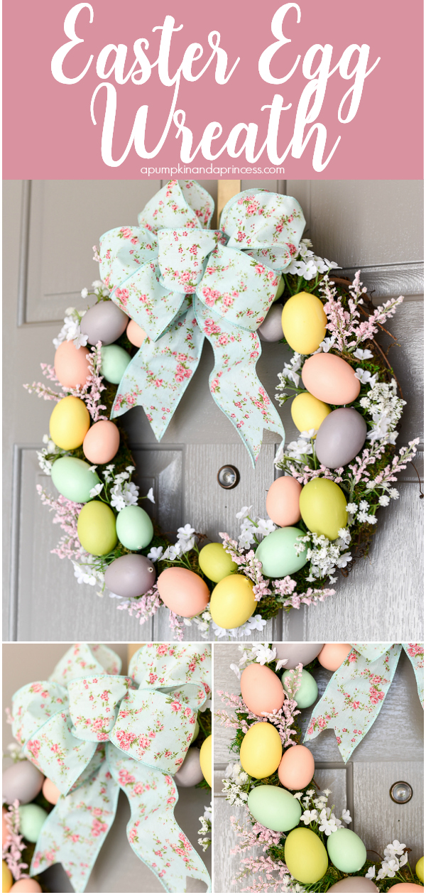 How to make a beautiful Easter egg wreath for your Spring decor