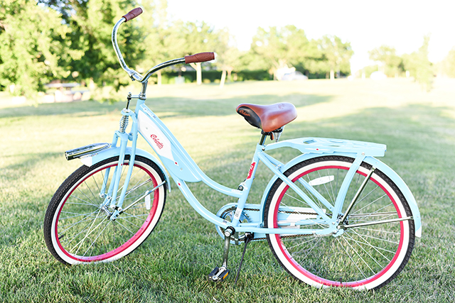 Pink and Mint Beach Cruiser