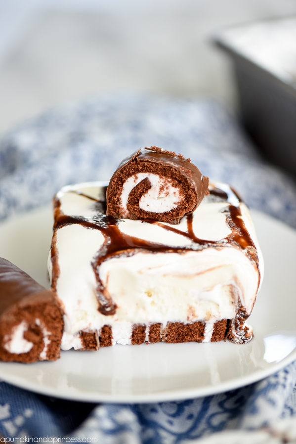 Swiss Rolls Ice Cream Dessert