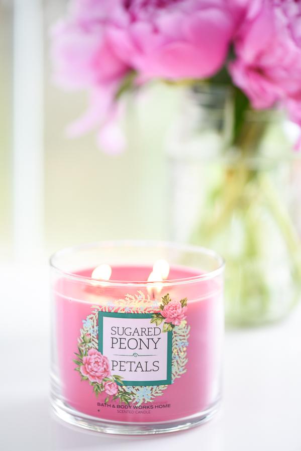 Peony Candle Decor