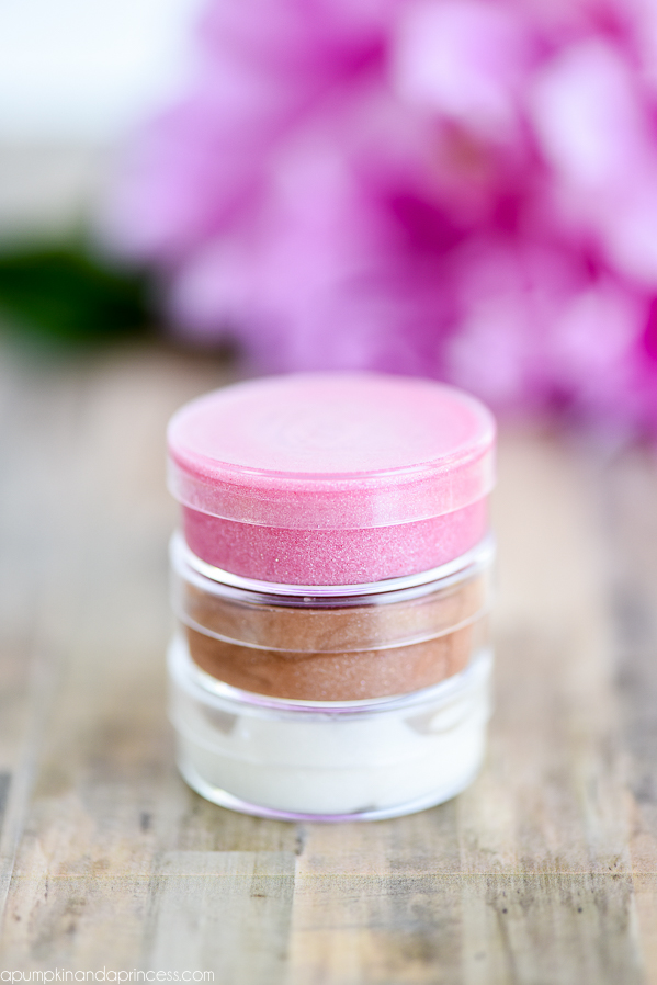 DIY Shimmer Lip Gloss made with only two ingredients! Kids can create this easy shimmer lip gloss with only 2 ingredients…perfect for spa parties and party favors!