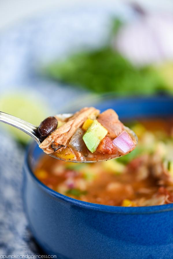 Chicken Veggie Tortilla Soup