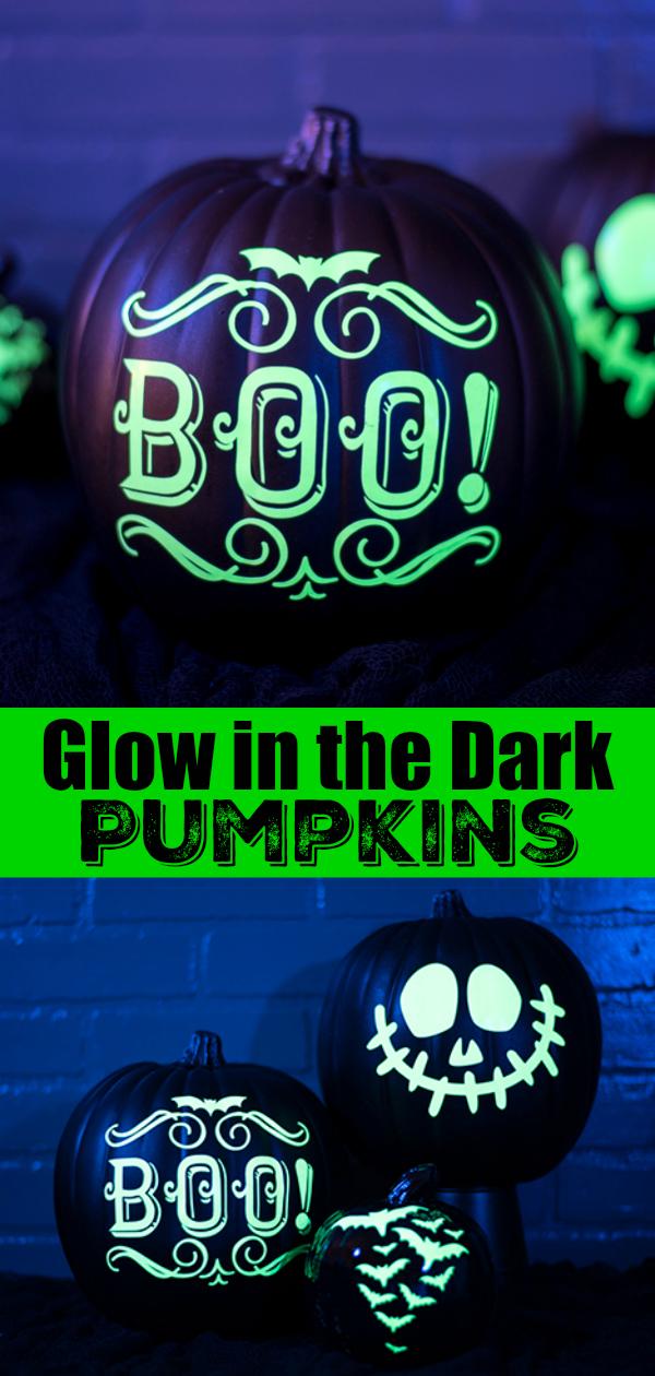 Glow in the dark pumpkin DIY