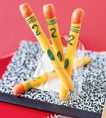 DIY pretzel pencils