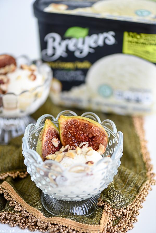 Spice Figs Vanilla Ice Cream