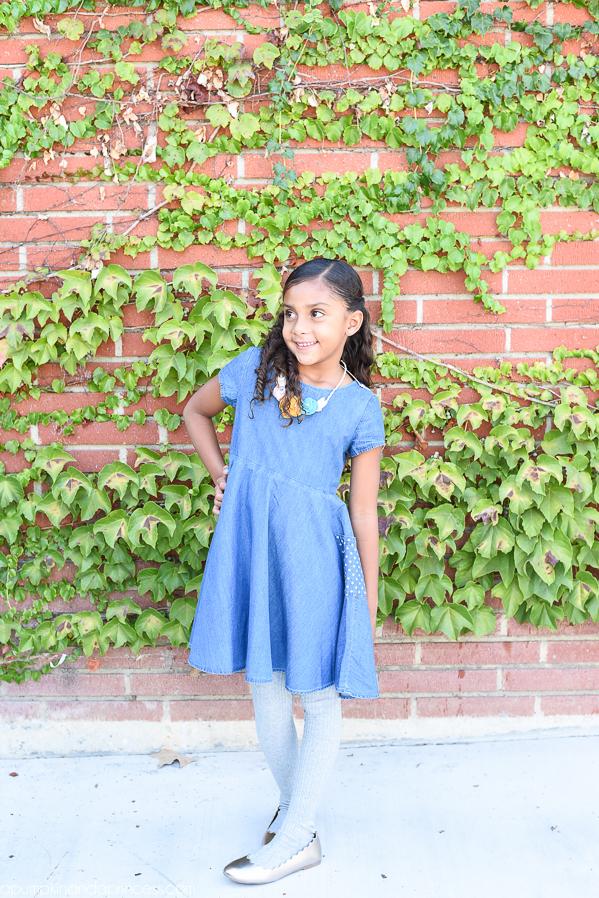 Twirly Chambray Dress