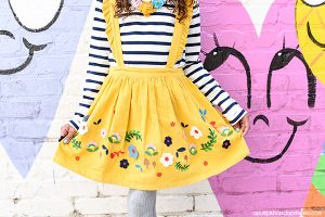 Twirly Yellow Skirt - Fall clothes for girls