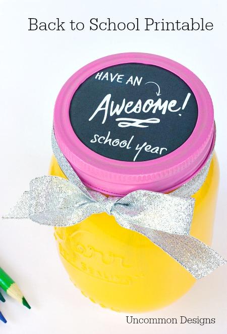 mason jar teacher gift