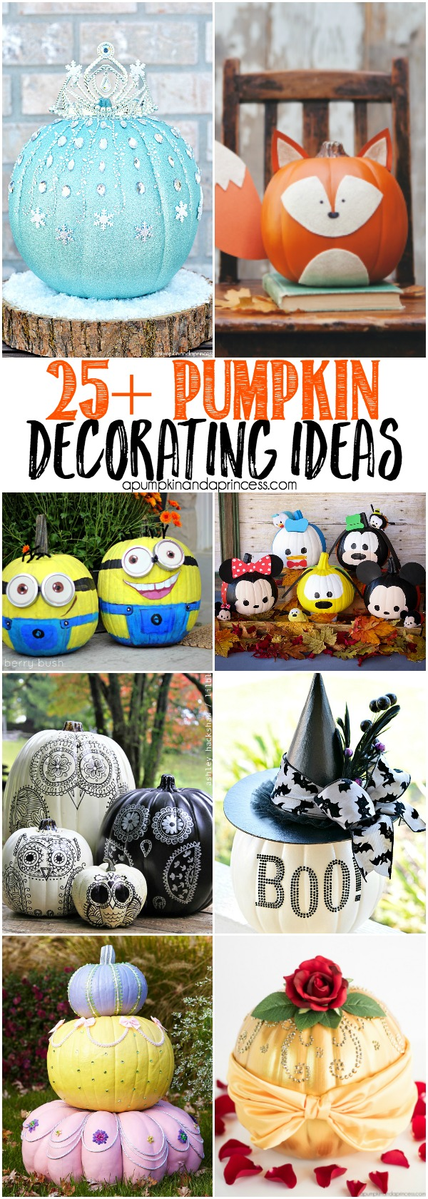 25 Creative Pumpkin Decorating Ideas