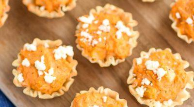 Buffalo Chicken Bites – a twist on the classic buffalo chicken dip appetizer!