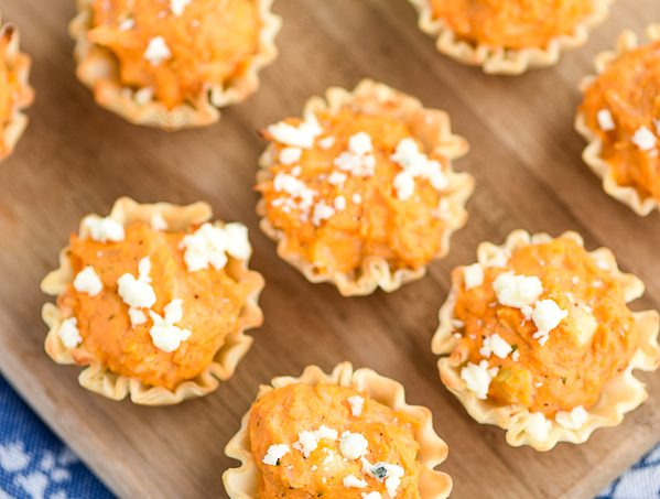 Buffalo Chicken Bites – a twist on the classic buffalo chicken dip appetizer!